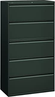 product image for HON 885LS 800 Series Five-Drawer Lateral File, Roll-Out/Posting Shelves, 36w x 67h, Charcl