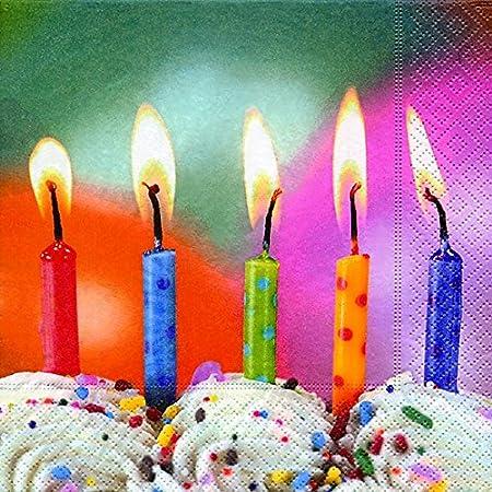 40 Almuerzo Servilletas Cinco deseos - Velas de cumpleaños ...