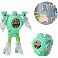 Transform Toys Robot Watch, 3 in 1 Projection Kids Digital Watch Deformation Bots Toys,Creative Educational Learning Xmas Toys for 3-12 Years Old Boys Girls Gifts