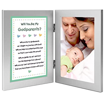Amazon.com - Will You Be My Godparents? Add Photo to Double Frame -