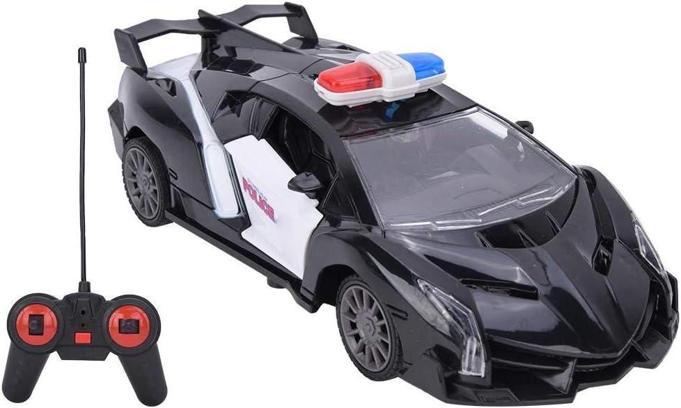 Glueckme Auto telecomandata 1//24 RC Auto della Polizia Poliziotto Elettrico Ca Auto telecomandata autorizzata dalla Macchina della Polizia Giocattoli elettrici per Auto per Bambini di 6 Anni Regali