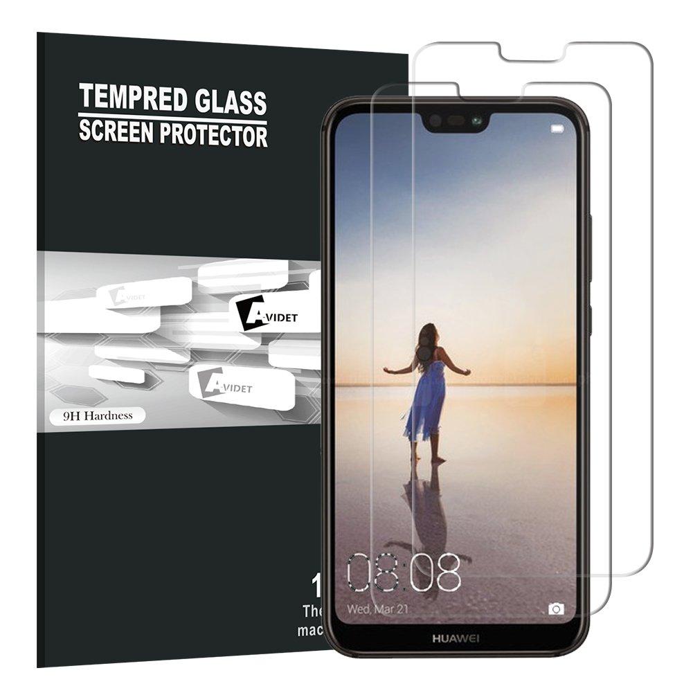 Huawei P20 Lite Displayfolie, Avidet Premium - Gehard glazen displayfolie voor Huawei P20 Lite (2 X)