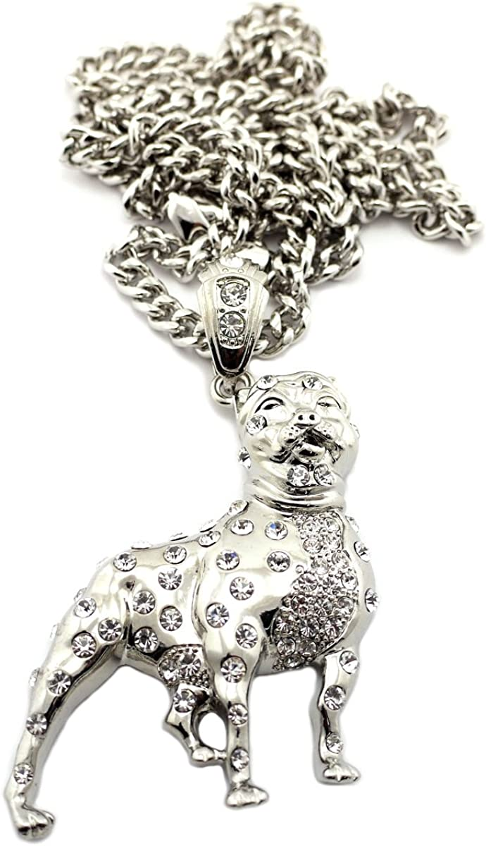 "NYFASHION101 Assorted Pendant with 6mm 36"" Miami Cuban Chain Necklace"