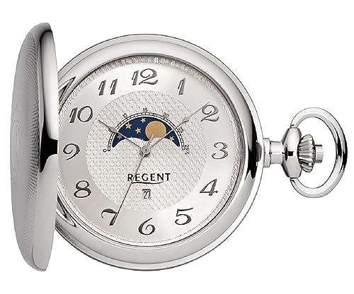 Taschenuhr Mondphase 50mm Regent P160