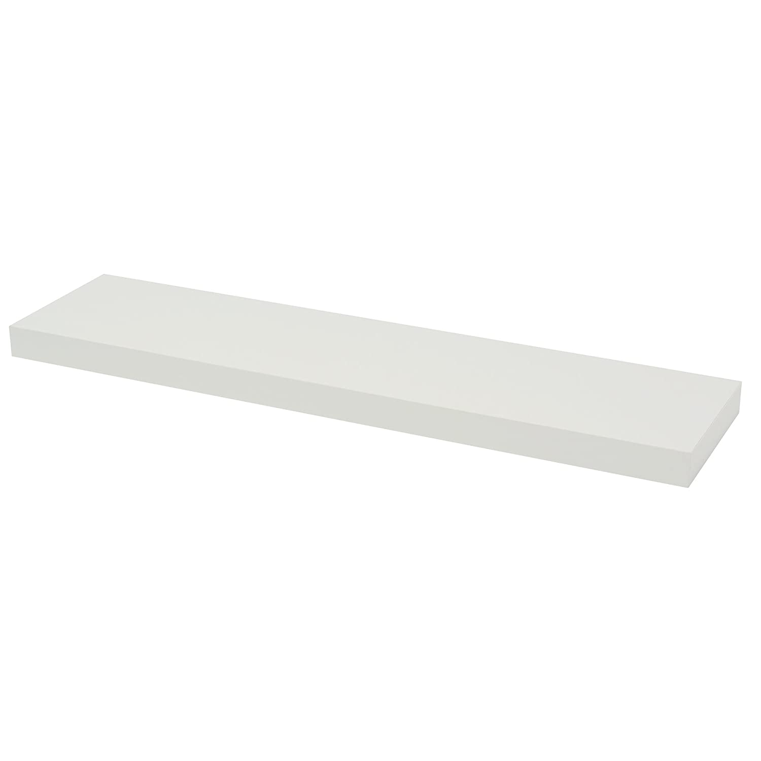 Amazon floating shelves home kitchen duraline floating wall shelf white 38 x 80 x 20 cm amipublicfo Image collections