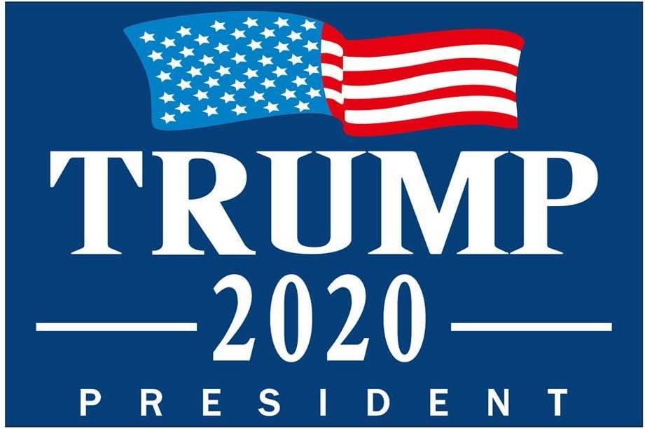 Montrez Votre Soutien pr/ésidentiel d/émocratique /à l/élection pr/ésidentielle Dites Non /à Trump N//P Biden Harris Yard Sign Logo 2020-Double-Sided Waterproof Glossy 24x18
