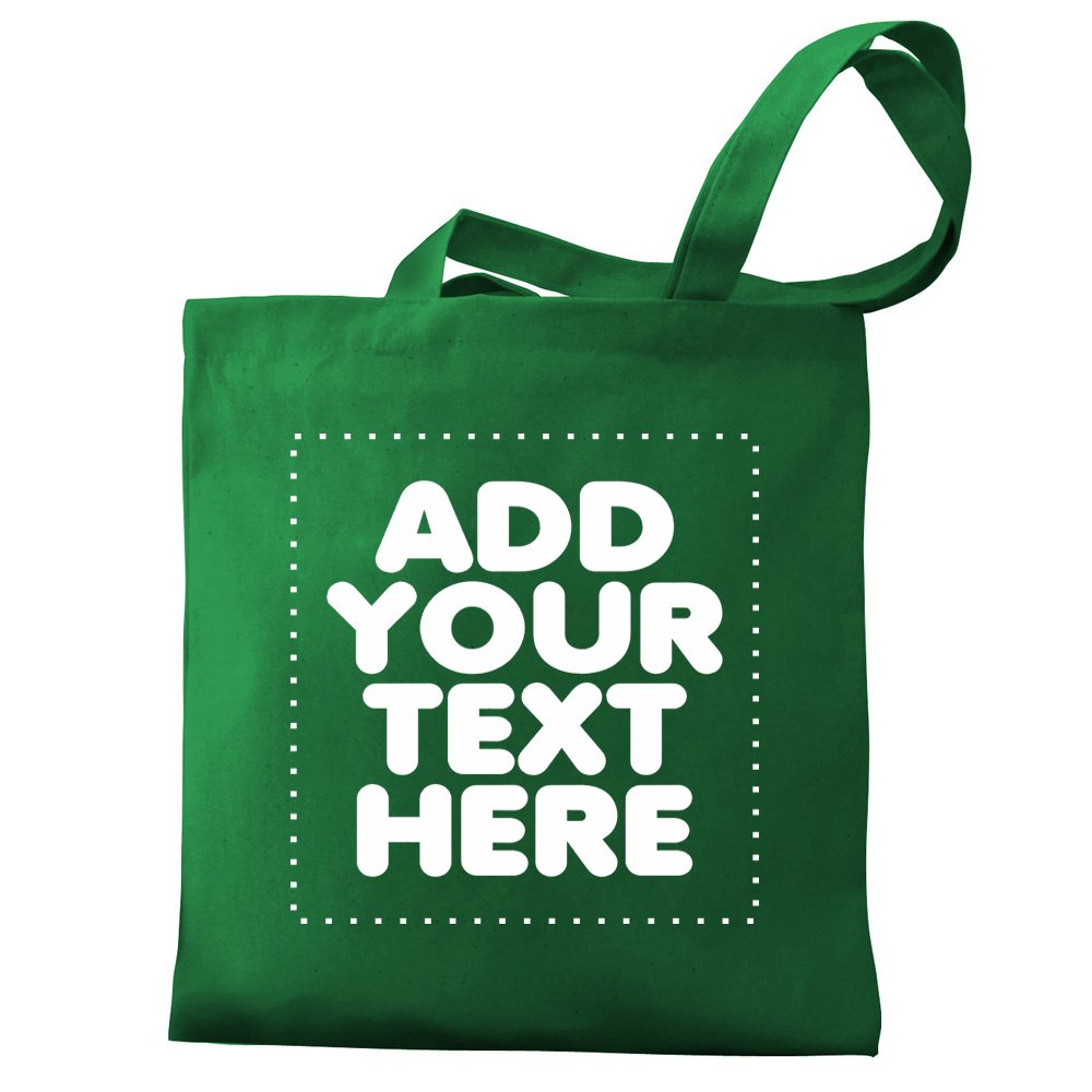 Design your own canvas tote bag adding personalized text