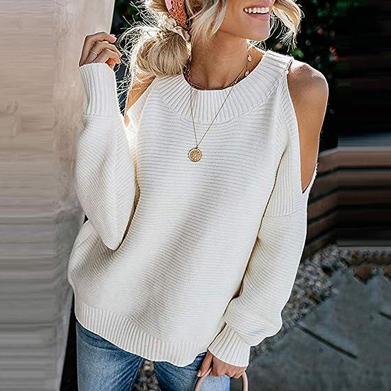 Rawdah_Donna Pullover Scollo a Barca Donna Elegant Chic