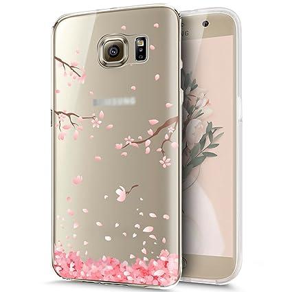 Ikasus - Carcasa para Samsung Galaxy S6 (silicona, diseño con brillantina, grosor ultrafino), compatible con Samsung Galaxy S6