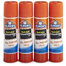Elmer's All Purpose School Glue Sticks, Clear, Washable, 4 Pack, 0.24-ounce sticks