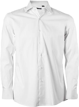 Uvaspina Classic Camisa Lisa Blanca Blanco Bianco: Amazon.es ...