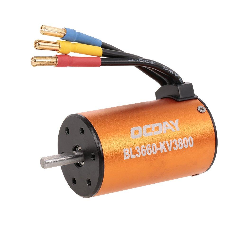 Goolsky OCDAY OCDAY BL3660 3800KV Sensorless Brushless Motor mit 80A ESC für 1/10 RC Crawler Traxxas ROTcat HSP Auto LKW