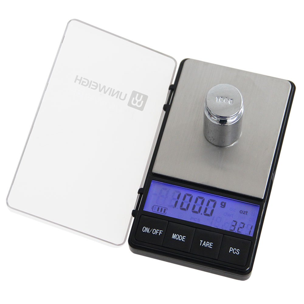 UNIWEIGH 650g0.1g Digital Scale,High Precision Weigh Pocket Scale,Jewelry and Gems Weight Scale