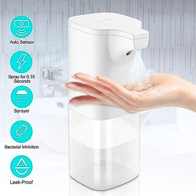 GEEMAI Dispensador Automático de Alcoholsin Dispensador Automático de Alcohol con Sensor, para el hogar, la Oficina, el Hotel, el Hospital. (350 ml)