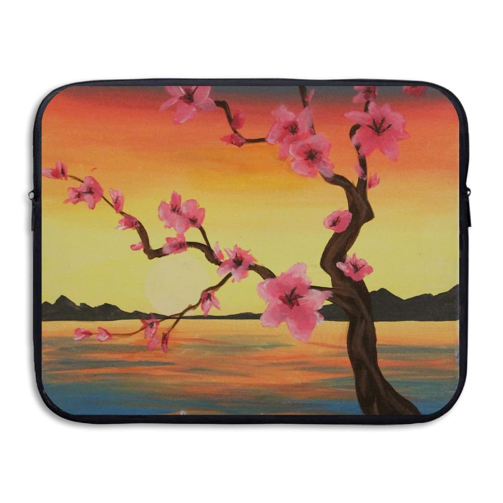 Ministoeb Peach Blossom Tree Love Laptop Storage Bag - Portable Waterproof Laptop Case Briefcase Sleeve Bags Cover