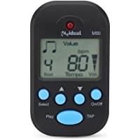 Portable Mini Metronome Multi-functional Clip-On Digital Beat Tempo Metronome for Piano, Violin, Guitar, Trap Drum (Black)