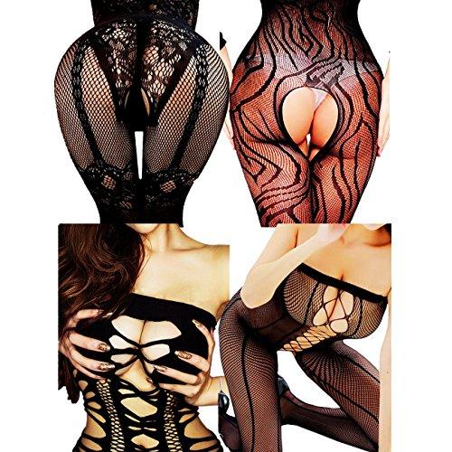 Daisland-Women-Sexy-Lingerie-Sleepwear-Nightwear-Fishnet-Bodysuit-Body-Stocking