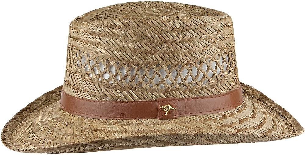 Natural Sombrero Gambler de paja de junco de Dorfman-Pacific