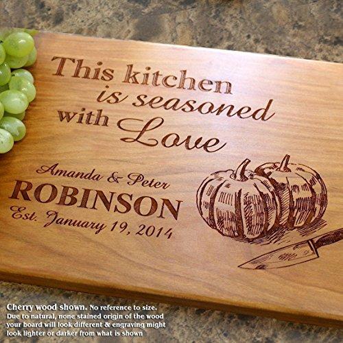 Board, Custom Keepsake, Engraved Serving Cheese Plate, Wedding, Anniversary, Engagement, Housewarming, Birthday, Corporate, Closing Gift #509 ()