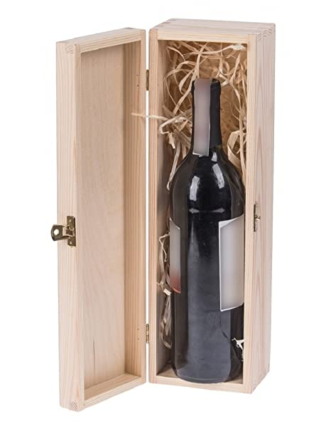 Wine Bottle Gift Box Decorative Christmas Decoupage Unfinished
