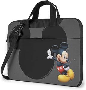 15.6 Inch Laptop Bag Lovely Mickey Mouse Laptop Briefcase Shoulder Messenger Bag Case Sleeve