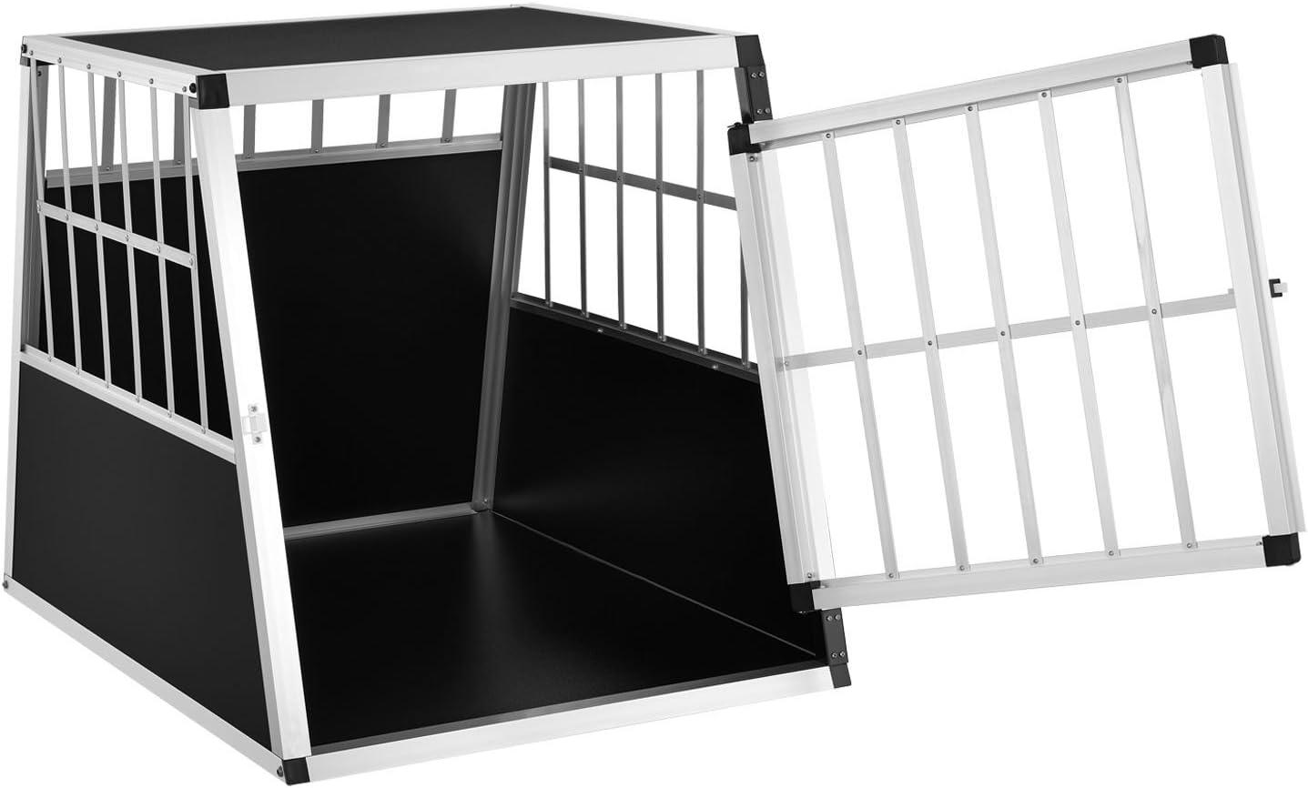 Sam S Pet Alu Hundetransportbox L X 65 91 69 Cm Auto Hundebox Robust Pflegeleicht Gittertür Verschließbar Aluminium Reisebox Für Hunde Haustier