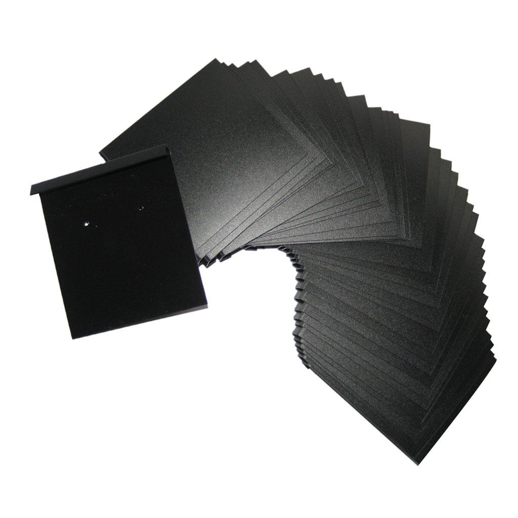 100 PCS Earring Display Hang Cards Black Flocked -2 x 2.2 Inch Generic