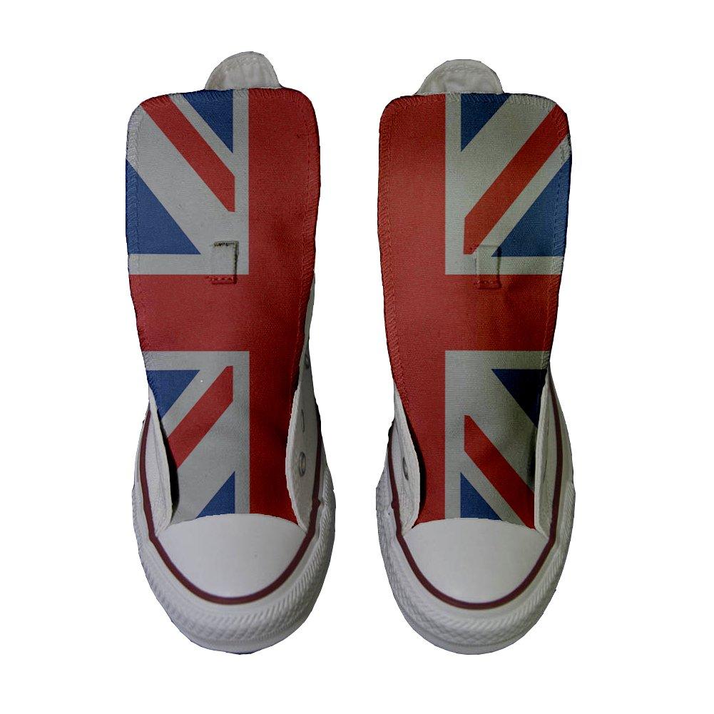 8a55354c128 Converse Customized Adulte - Chaussures Coutume (Produit Artisanal) avec  Drapeau Anglais  Amazon.fr  Chaussures et Sacs