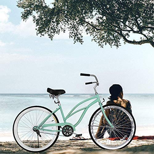 Popsport Beach Cruiser 24 Bicycle Women s Cruiser Bike Lady Beach Cruiser Bicycle Pink Ladies Bike Single Speed
