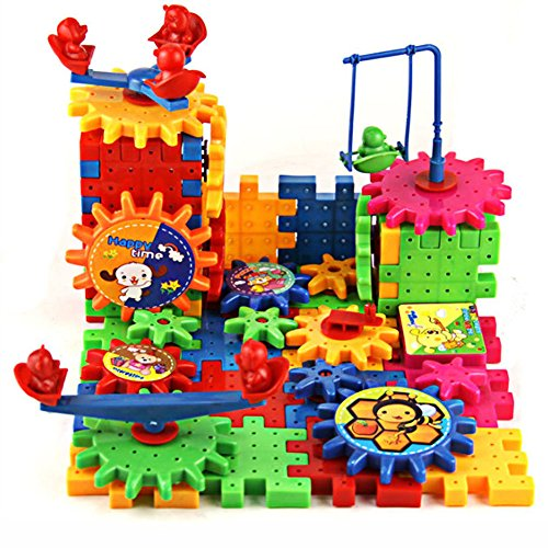 MAZIMARK--81Pcs Plastic Building Blocks Puzzle Toys for Kids Children Educational Toy Gift by MAZIMARK
