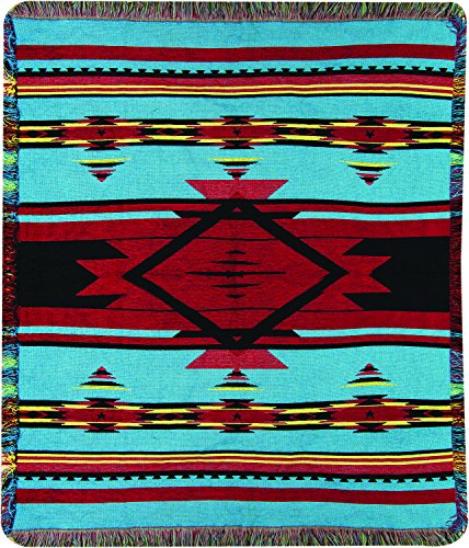 Manual Woodworkers & Weavers Tapestry Throw, Flame Bright, 50 x 60-Inch