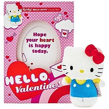 Itty bittys Hello Kitty tarjeta del día de San Valentín con peluches