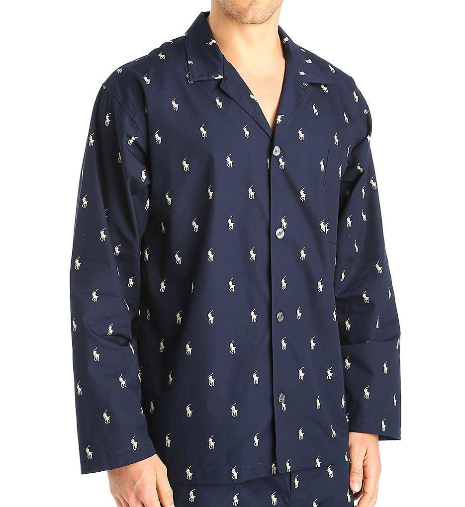 Polo Ralph Lauren Polo Play Print 100% Cotton Sleep Top (L008) M/Navy/Cream