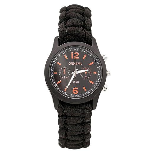 35 opinioni per Paracord Bracelet universali con orologio e il fuoco d'avviamento del marchio