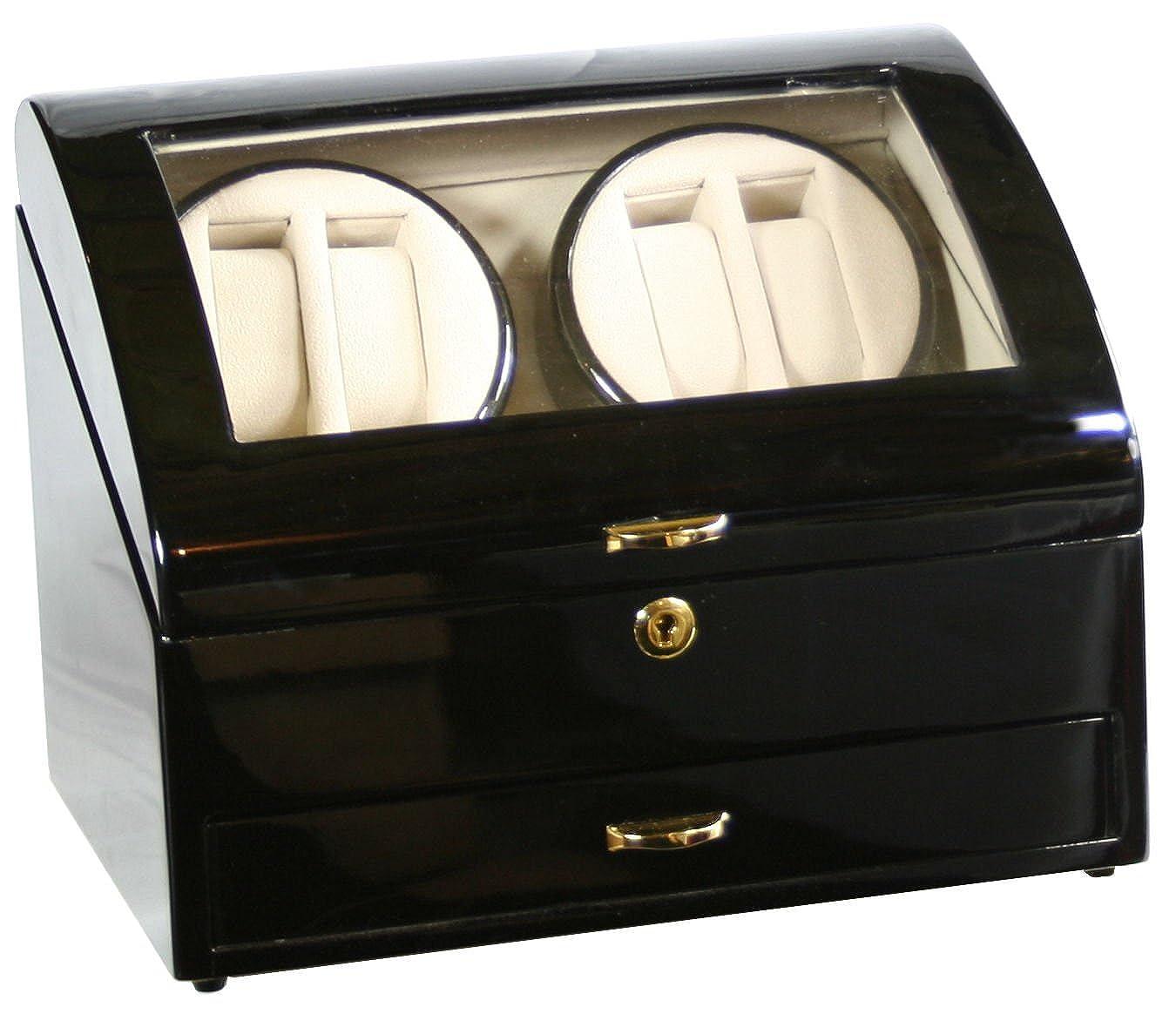 Kendal ブラックウッド製4個用ウォッチワインダー 4+6個用保管ボックス ケース (インポート) B001HPN69O
