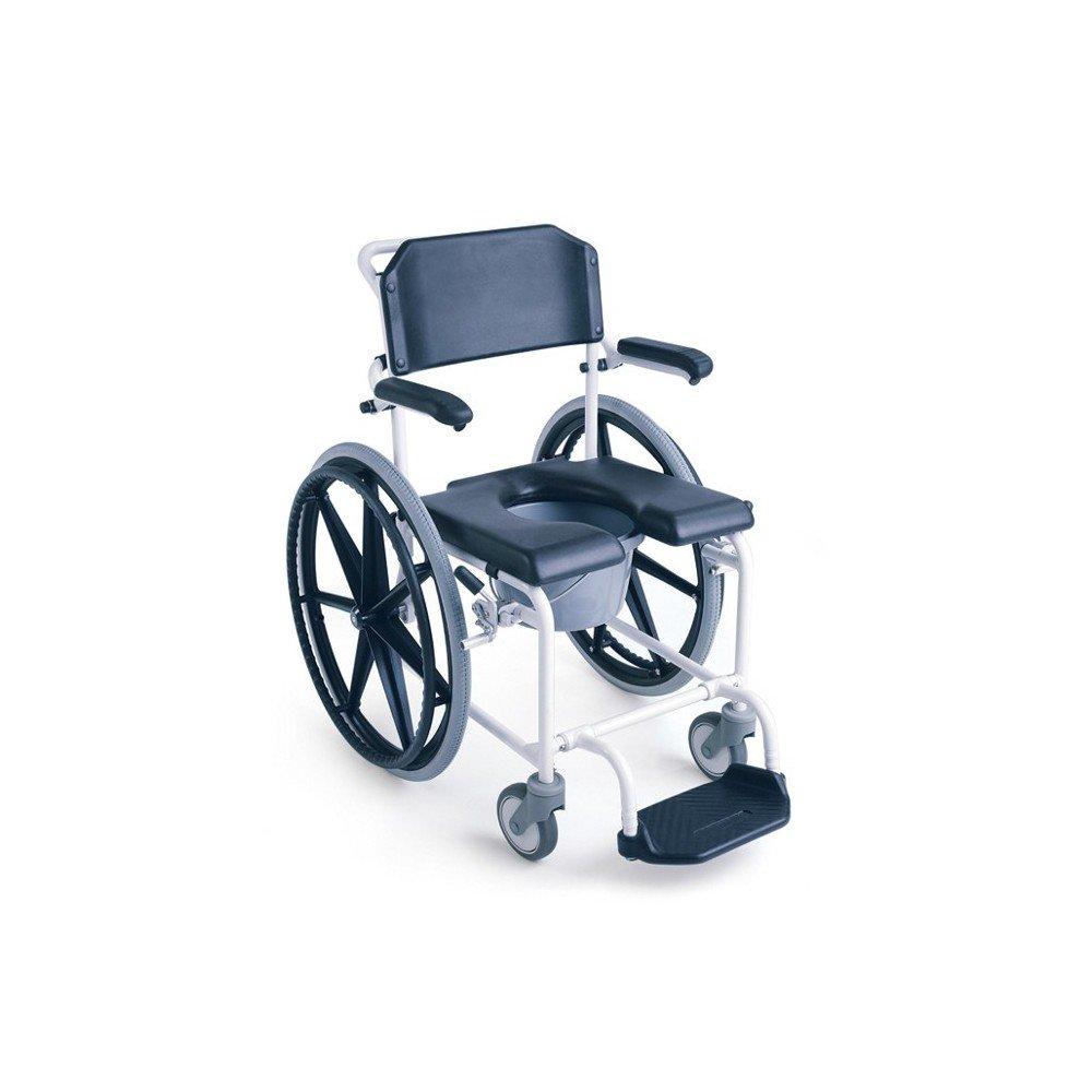 Ayudas dinamicas - Silla de ducha levina ruedas de 600 mm.: Amazon.es: Salud y cuidado personal