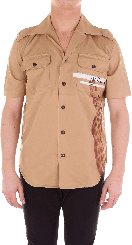 WHITE SAND Mens 19Su42165gbeige Beige Cotton Shirt