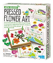 The 4M Pressed Flower Art Kit is the perfect introduction to a classic craft hobby that can last a lifetime. The kit's 4-inch flower press will make attractive cards, bookmarks, trinket boxes, and more. The kit includes a flower press, glue, ...