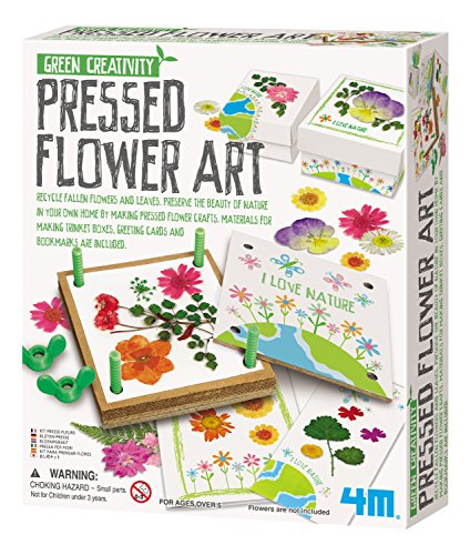 Creative Halloween Arts And Crafts (4M Green Creativity Pressed Flower Art Kit - Arts & Crafts DIY Recycle Floral Press Gift for Kids & Teens, Girls &)