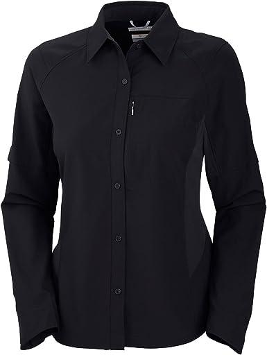 Columbia Island Press - Camisa de Senderismo para Mujer, tamaño XL, Color Negro: Amazon.es: Ropa y accesorios