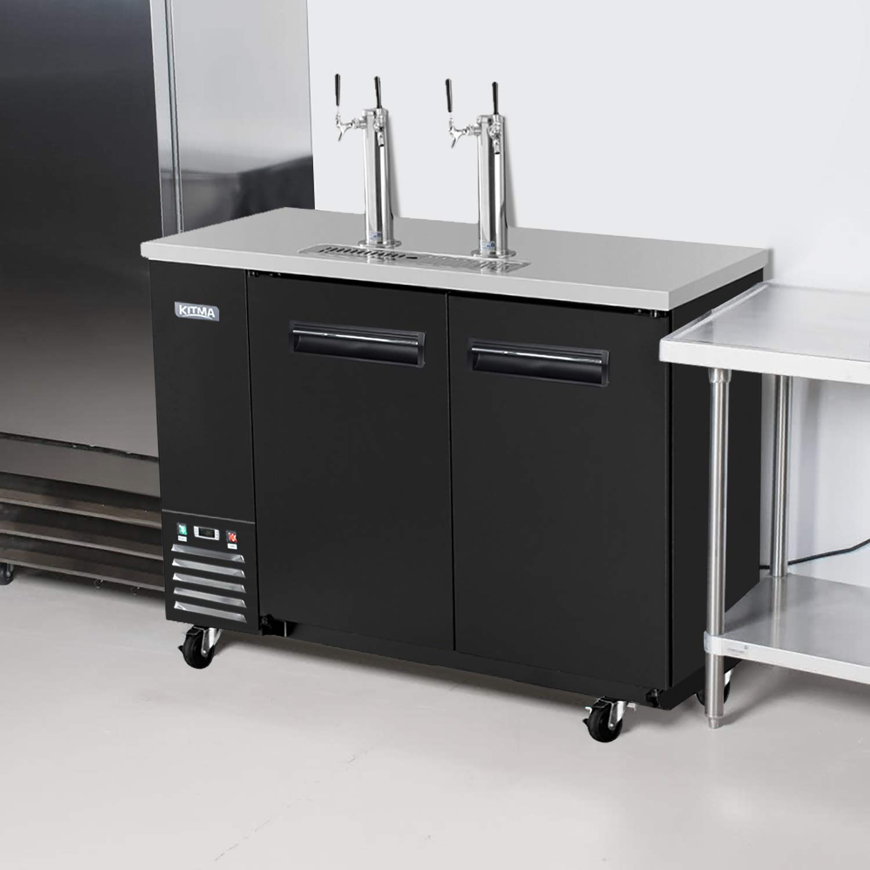 Refrigerador comercial de doble grifo Kegerator - KITMA 68 ...