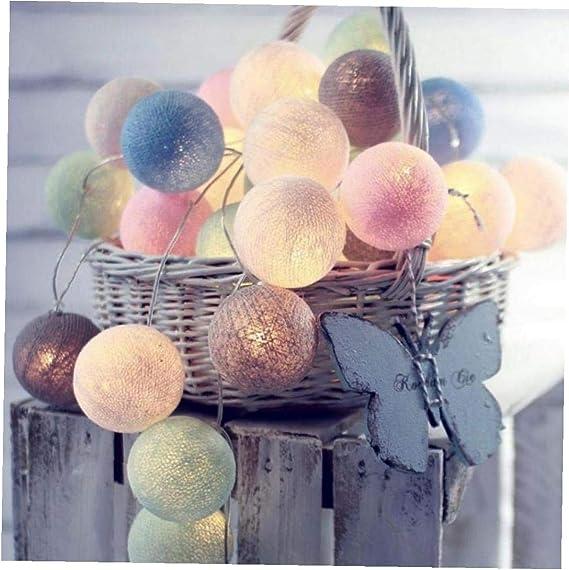 Aisoway Vacaciones de Navidad Garland Globe LED Guirnalda Luminosa ...