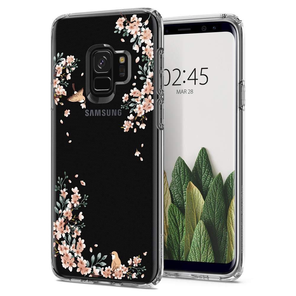Galaxy S9 Case Spigen Liquid Crystal - Light but Durable Flexible Clear TPU Protection for Samsung Galaxy S9 (2018) - Glitter Crystal Quartz 592CS22831