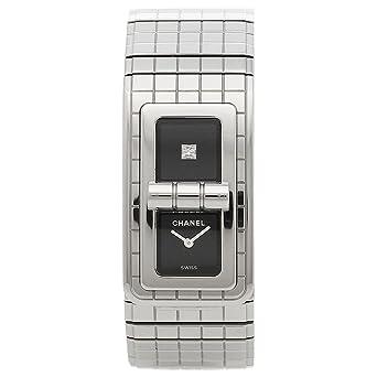 a6bc32f7dab7 Amazon | [シャネル] 腕時計 レディース CHANEL H5144 シルバー ブラック ...
