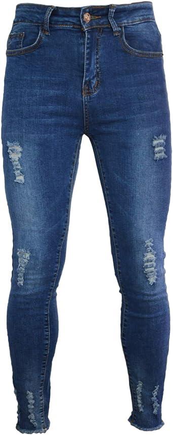 PHOENISING Pantalones de Mezclilla para Mujer, cómodos, de Tela ...
