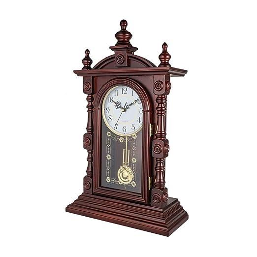 Fengfeng Relojes de repisa de Madera, Reloj de Mesa de Escritorio ...
