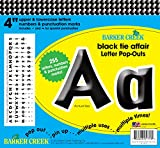 Barker Creek 4'' Poster Letters & Bulletin Board Letter Pop-Outs, Black Tie Affair (LL-1713)