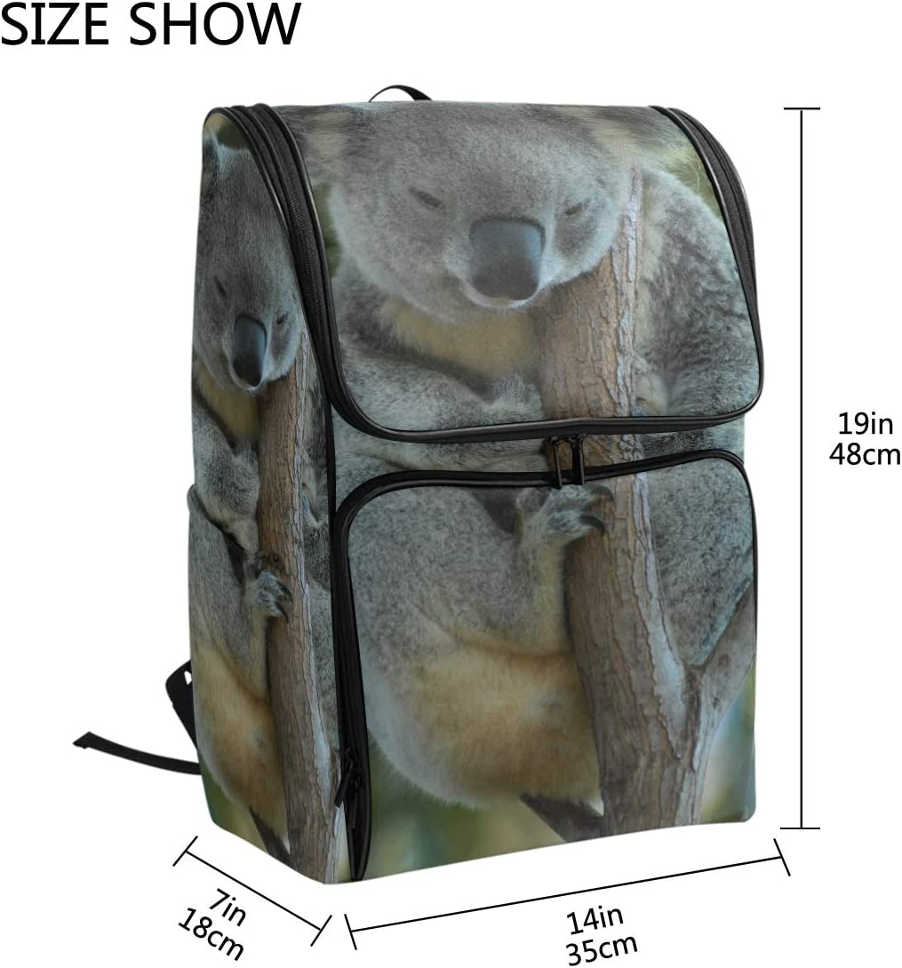 FANTAZIO Resting Koala Laptop Outdoor Backpack Travel Hiking Camping Rucksack Pack Casual Large College School Daypack