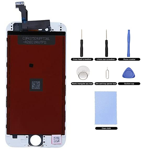 For iPhone 4S White Replacement Part - LCD and Touch Screen Digitizer  Assembly + 7 Pieces Tool Set for iPhone...  Amazon.in  Electronics 9f8bd60ae0