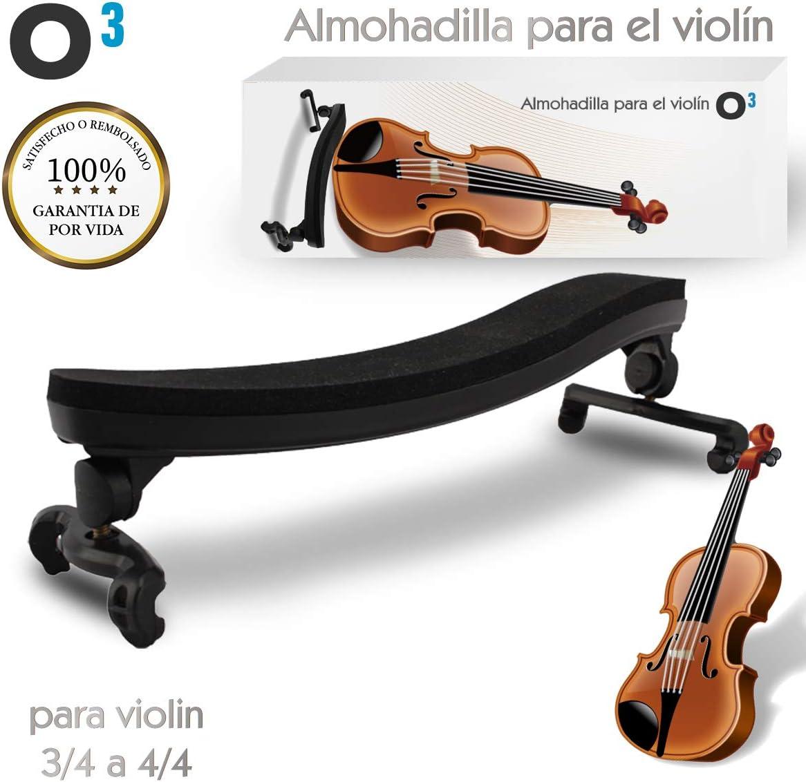 Resto De Hombro De Violin De Madera Para 4//4 Y 3//4 Con Plegable Y Altura